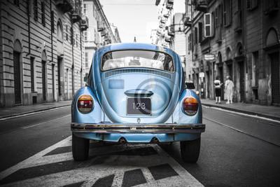 Image Vieille voiture bleue