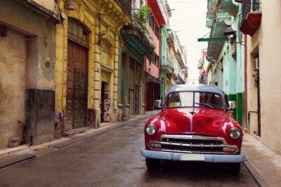 Image Vieille voiture classique dans les rues de La Havane, Cuba