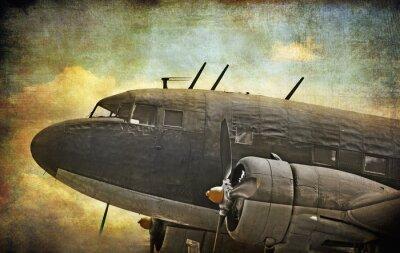 Image Vieux avions militaires, grunge