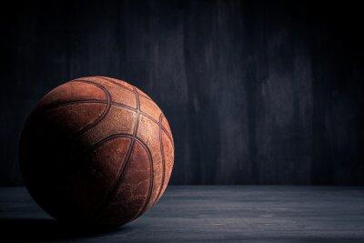 Image Vieux, basket-ball, balle, noir, fond