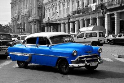 Image Vieux bleu voiture américaine à La Havane, Cuba