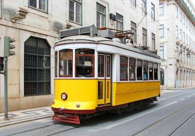 Image Vieux jaune tram de Lisbonne, Portugal