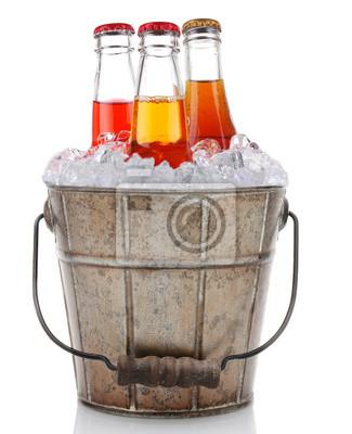 Vieux seau de glace et Soda Pop