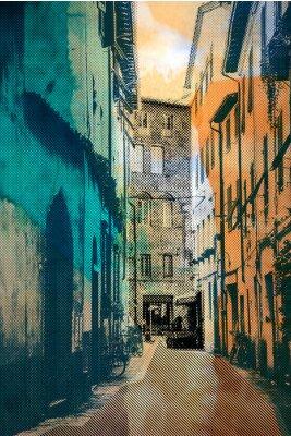 Image ville de Lucques, carte postale
