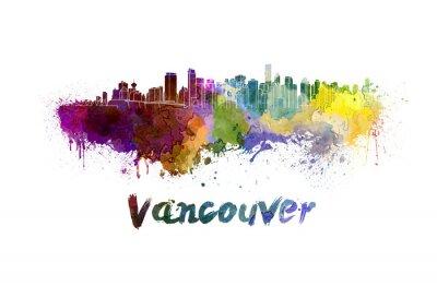 Image Ville de Vancouver à l'aquarelle