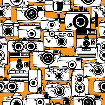 Image Vintage appareils photo de film seamless