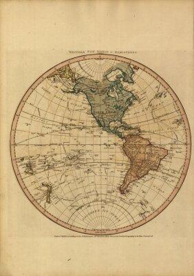 Image Vintage carte mondiale
