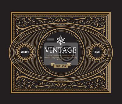 Image Vintage Frontière Ancien Cadre Whisky étiquette Dessin