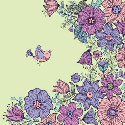 Image Vintage motif floral sans soudure. Vector illustration.