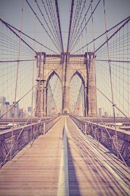 Image Vintage photo tonique du pont de Brooklyn, New York, USA.
