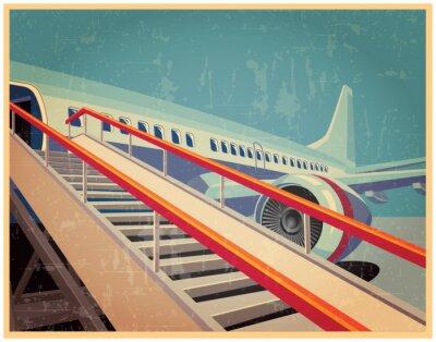 Image Vintage poster avec le plan