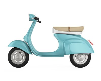 Image Vintage Retro Scooter isolé