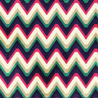 Image Vintage seamless zigzag avec effet grunge