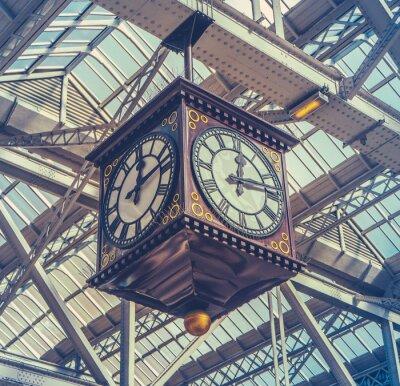 Image Vintage Station Horloge
