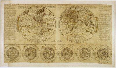 Image Vintage World map