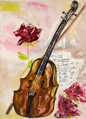 Image Violon et roses