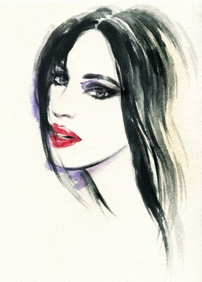 Image visage de femme.