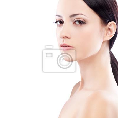 Visage de femme portrait, regardant la caméra