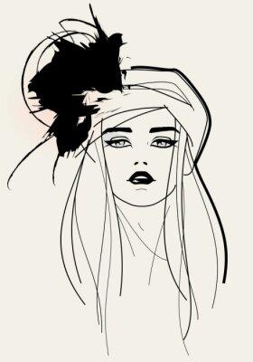 Image visage de modèle de mode / look élégant