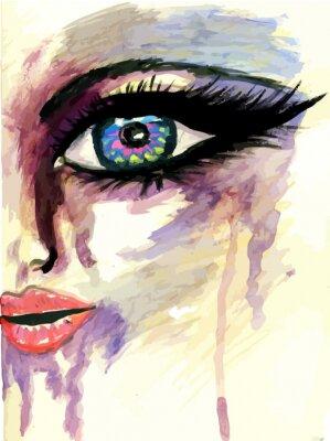 Image Visage stylisé peint