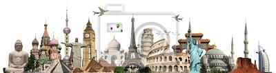 Image Voyage monuments concept de monde