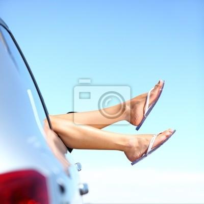 voyage vacances en voiture de route d'été