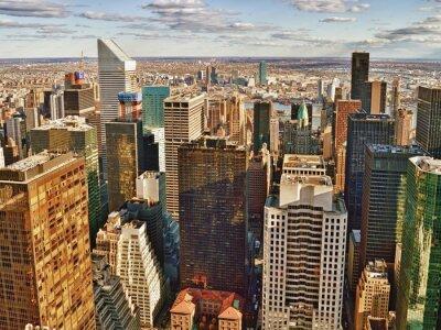 Image Vue aérienne de la ville de New York.