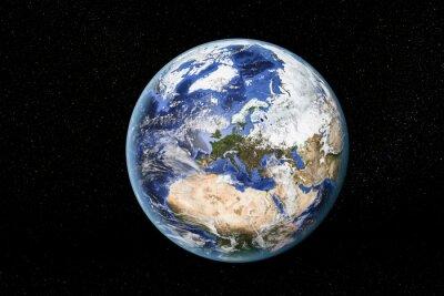 Image Vue détaillée de la Terre depuis l'espace, montrant l'Afrique du Nord, en Europe et au Moyen-Orient. Éléments de cette image fournie par la NASA