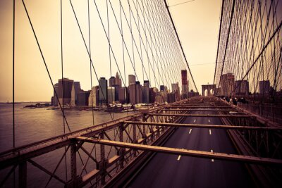 Image Vue du quartier financier du pont de Brooklyn