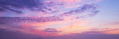 Image Vue panoramique d'un ciel rose et violet au coucher du soleil