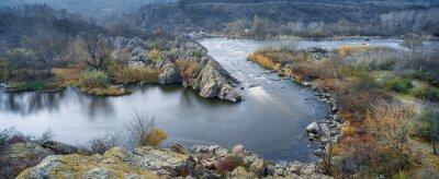 Image Vue panoramique sur la rivière en automne