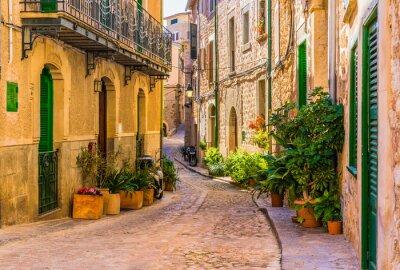 Image Vue, romantique, rue, vieux, méditerranéen, village, espagne