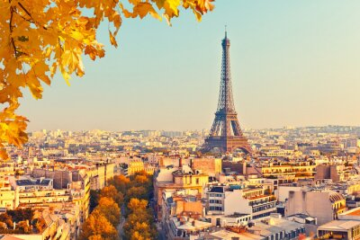 Image Vue sur la tour Eiffel au coucher du soleil