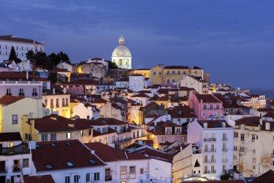 Image Vue sur la vieille ville de Lisbonne au Portugal