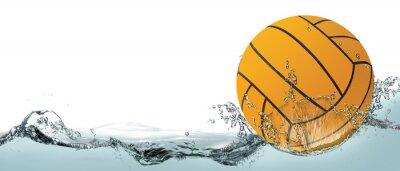 Image Water polo, background with ball.