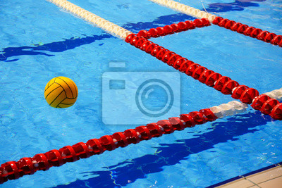 Image Water polo ball in swimming-pool