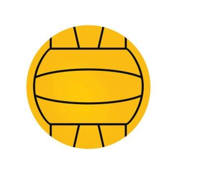 Image Water polo ball. vector illustration