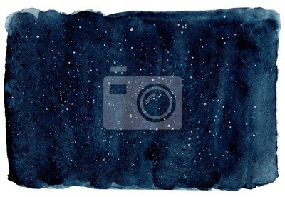 Image Watercolor dark navy background. Dark blue sky with stars. Hand drawn illustration, perfect for textures and backgrounds.