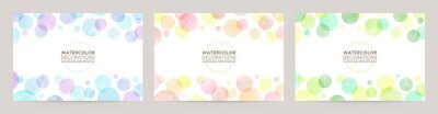 Image watercolor vector colorful bubble frames
