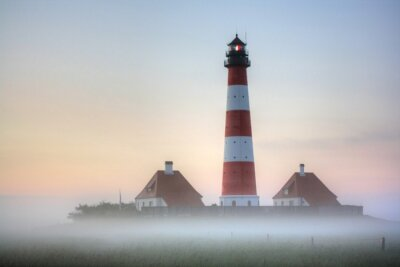 Image Westerhever phare dans le brouillard Lever