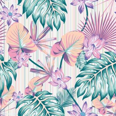 Image Winter tropical pattern seamless stripe background