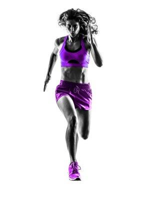 Image woman runner running jogger jogging silhouette