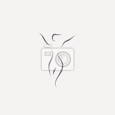 Image woman shape body line illustration vector