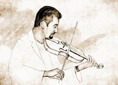 Image Рисунок-иллюстрация ,, ,, Скрипач.