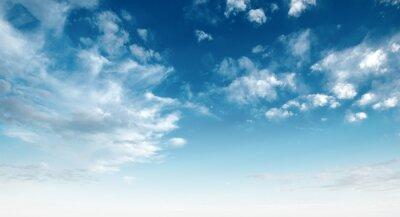 Image Ciel bleu clair et nuages blancs
