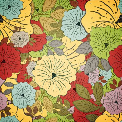 Image Floral, seamless, grunge, coloré, modèle »