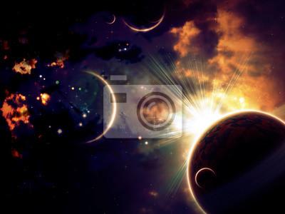 Nuages et planètes spatiales