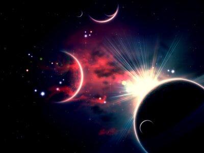 Image Nuages et planètes spatiales