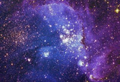 Image Nuit ciel avec des nuages étoiles fond nébuleuse. Peinture fractale colorée, les lumières sur le sujet de l'art, abstrait, la créativité. La planète et la galaxie dans un espace libre. Éléments de c