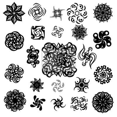 Tatouages ensemble - isolé sur fond blanc